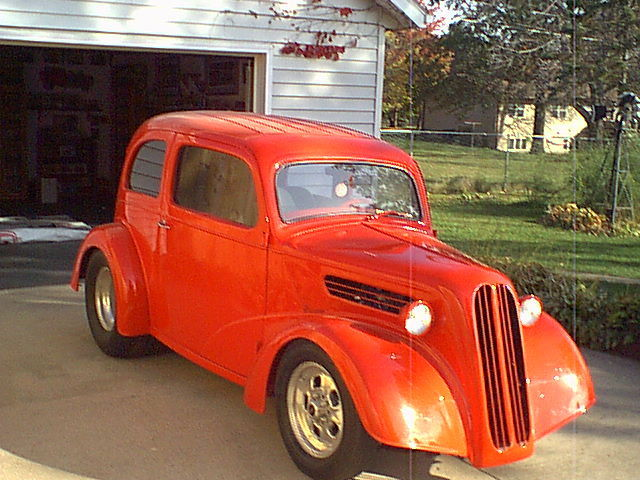 Fireball Red 1938 Anglia Gasser Now PRO STREET ly 2 in