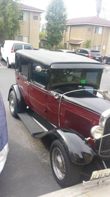 Ford 1930 Model A 4 Door Sedan Hot Rod For Sale Ford Model
