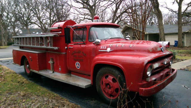 ford f600 fire truck for sale ford f 100 fire truck 1956 for sale in naperville illinois. Black Bedroom Furniture Sets. Home Design Ideas