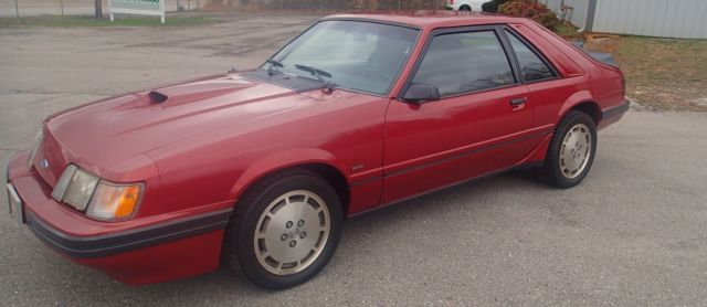 ford mustang svo 1986 canyon red 1 owner for sale ford mustang 1986 for sale in monroe. Black Bedroom Furniture Sets. Home Design Ideas