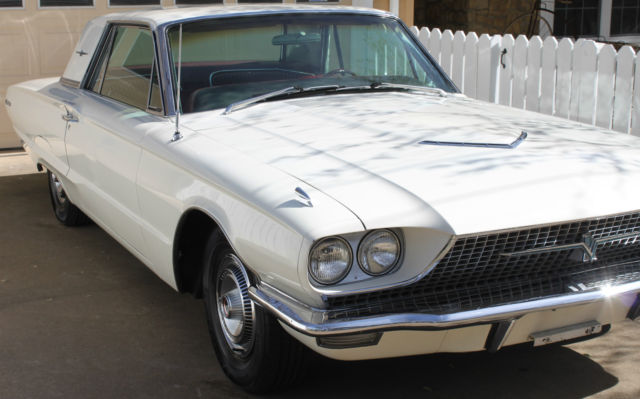 Ford Thunderbird Hardtop 2 Door White With Red Interior 390 Fe