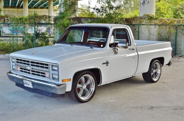 frame off completely restored square body c 10 silverado v8 5 7l 350 for sale chevrolet. Black Bedroom Furniture Sets. Home Design Ideas