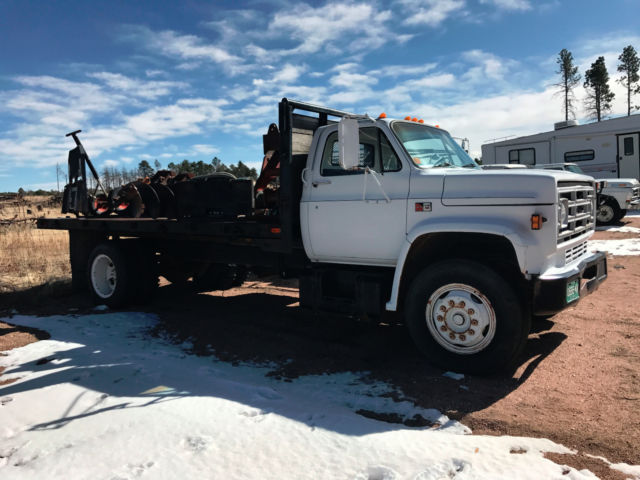 Gmc V Diesel Ft Stake Bed Flatbed Dump Truck on 1985 Detroit Diesel V8 Engine
