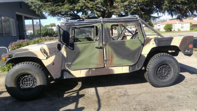 humvee m998 hmmwv california street legal for sale hummer h1 1985 for sale in grover beach. Black Bedroom Furniture Sets. Home Design Ideas