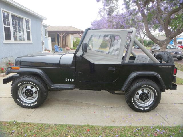 jeep wrangler 1991 4x4 4 0l 6 cylinder 5 speed only 59 393 original miles for sale jeep. Black Bedroom Furniture Sets. Home Design Ideas