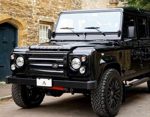 land rover defender 110 left hand drive black on black in. Black Bedroom Furniture Sets. Home Design Ideas