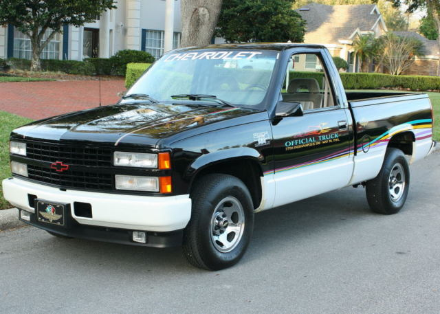 low mile indy pace survivor 1993 chevrolet silverado indy pace 1 257 orig mi for sale. Black Bedroom Furniture Sets. Home Design Ideas