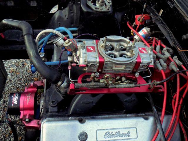 Mustang Notchback Foxbody LX Fresh Chevy 406 Engine Glide Race Drag