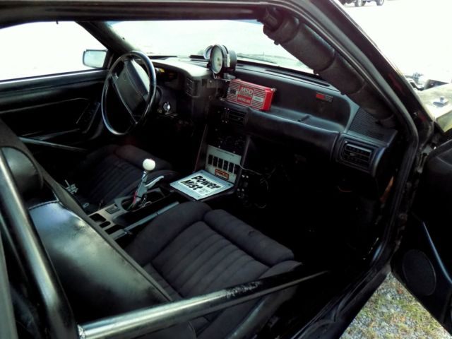 mustang notchback lx foxbody 406 sbc glide nx drag street car full interior race for sale ford. Black Bedroom Furniture Sets. Home Design Ideas