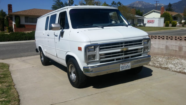 nice clean rustfree 1 owner california cargo van no reserve auction for sale chevrolet g20. Black Bedroom Furniture Sets. Home Design Ideas