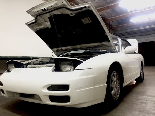 nissan 240sx convertible 1993 white for sale nissan. Black Bedroom Furniture Sets. Home Design Ideas