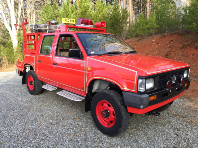 nissan datsun pickup jdm rhd right hand drive 4 door 4wd 4x4 fire truck 1988 for sale nissan. Black Bedroom Furniture Sets. Home Design Ideas