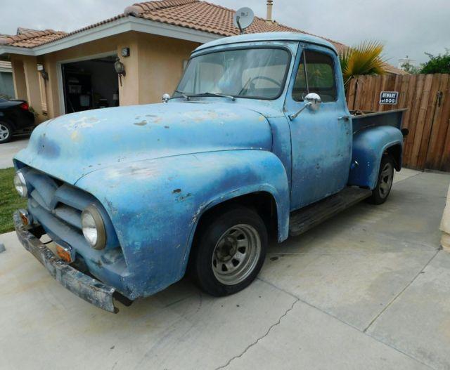 no reserve 1953 f100 stepside for sale ford f 100 1953 for sale in san jacinto california. Black Bedroom Furniture Sets. Home Design Ideas
