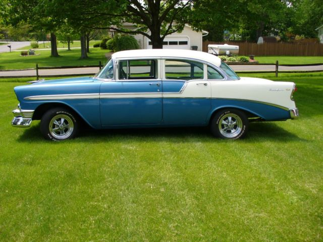 No reserve 1956 chevy bel air 4 door sedan runs for 1956 chevy belair 4 door for sale