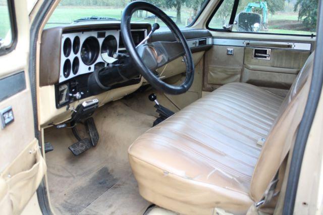 NO RESERVE 1982 Chevrolet K20 Silverado 4x4 DIESEL 3/4 ton chevy