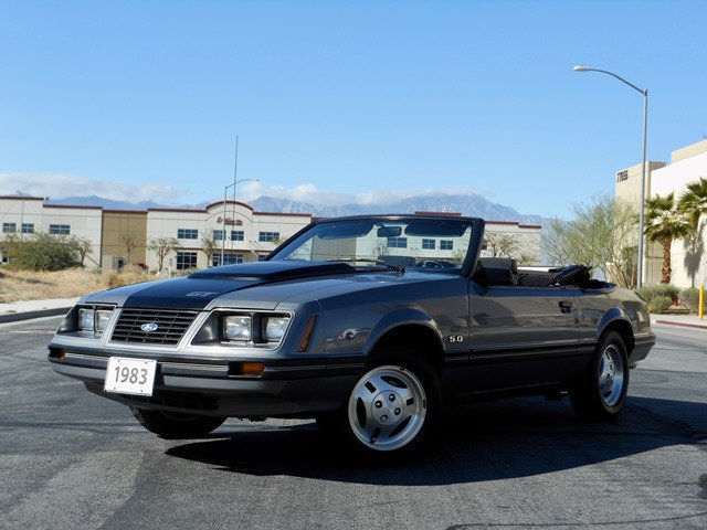 no reserve 1983 ford mustang gt 5 0 convertible 1 owner 14600 actual miles for sale ford. Black Bedroom Furniture Sets. Home Design Ideas