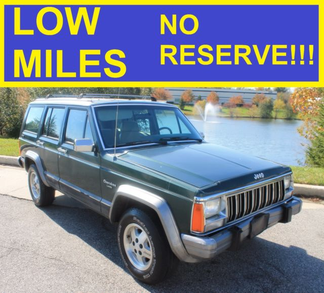 no reserve 1992 jeep cherokee 4x4 laredo limited classic grand 96 97 98 99 00 01 for sale jeep. Black Bedroom Furniture Sets. Home Design Ideas