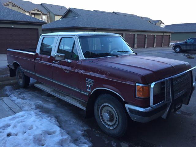 f350 7 3l turbo diesel 1989 ford f 350 crew cab pickup for sale ford. Cars Review. Best American Auto & Cars Review