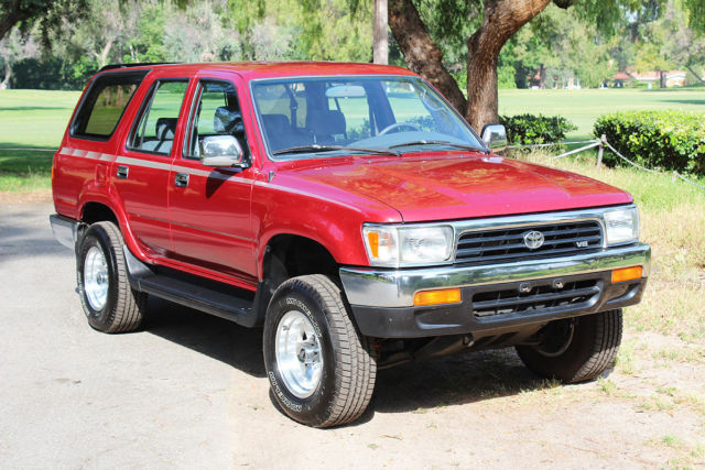 one owner 1992 toyota 4runner sr5 4x4 suv for sale. Black Bedroom Furniture Sets. Home Design Ideas