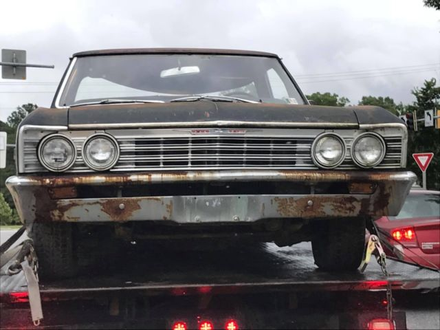 Original 1967 El Camino Chevelle Muscle Car Rat Rod Barn Find Pro