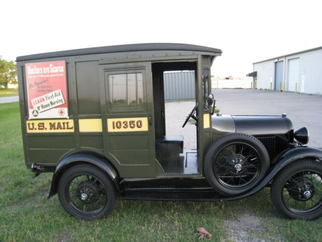 outstanding original 1929 model a us mail truck runs great for sale ford model a us mail 1929. Black Bedroom Furniture Sets. Home Design Ideas
