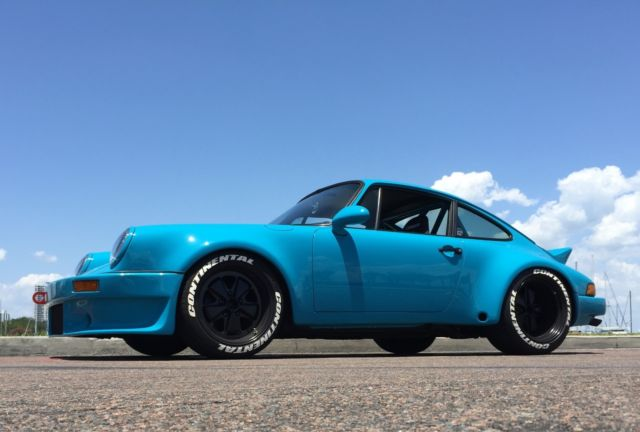 porsche 911 miami blue turbo wide body lightweight hot rod. Black Bedroom Furniture Sets. Home Design Ideas