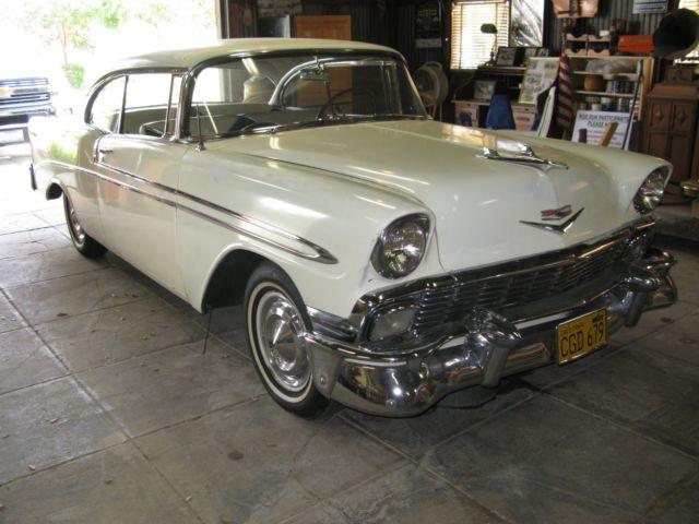 rare 1956 chevy bel air 2 door hard top california unrestored original paint car for sale. Black Bedroom Furniture Sets. Home Design Ideas