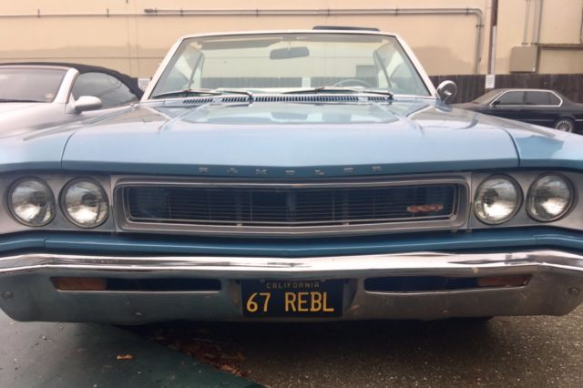 rare 1967 amc rebel sst convertible rare must sell. Black Bedroom Furniture Sets. Home Design Ideas