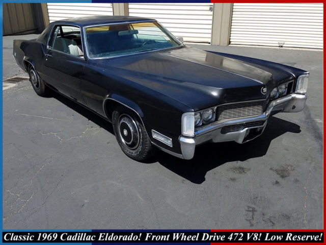 rare 1969 cadillac eldorado coupe 472 v8 front wheel drive classic low reserve for sale. Black Bedroom Furniture Sets. Home Design Ideas