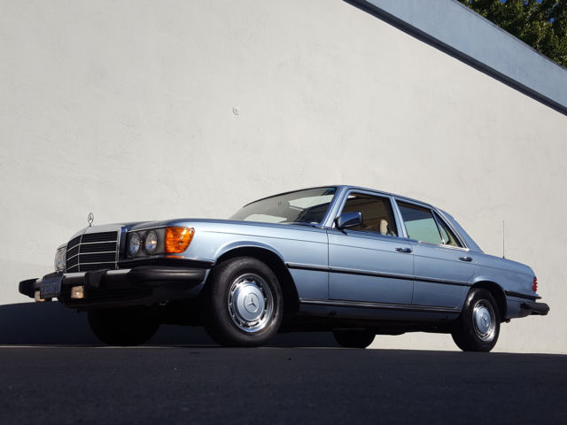 Rare 1977 mercedes benz 280se w124 1 owner blue plate for Mercedes benz redwood city