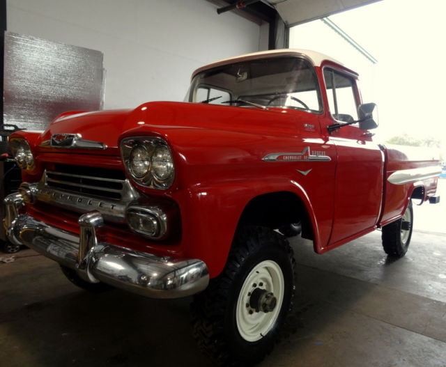 rare classic 1958 chevrolet apache napco 4x4 chevy gmc for sale chevrolet other pickups. Black Bedroom Furniture Sets. Home Design Ideas