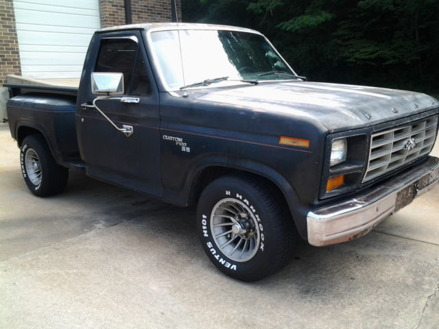 Rare flareside 81 ford custom f100 pickup truck with for Ford used motors for sale