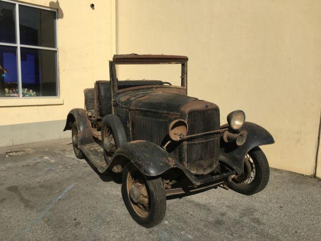 Rare Original 1932 Ford Woody Vtg Hot Rod Barn Find