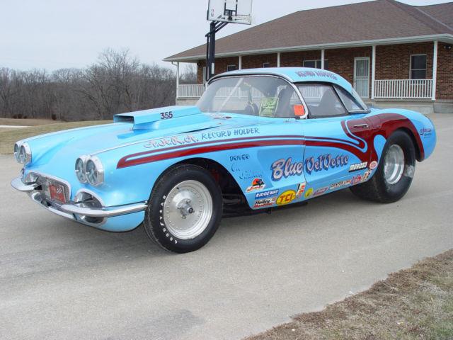 Real 1960 Corvette Gasser Record Holder Super Vette Blue
