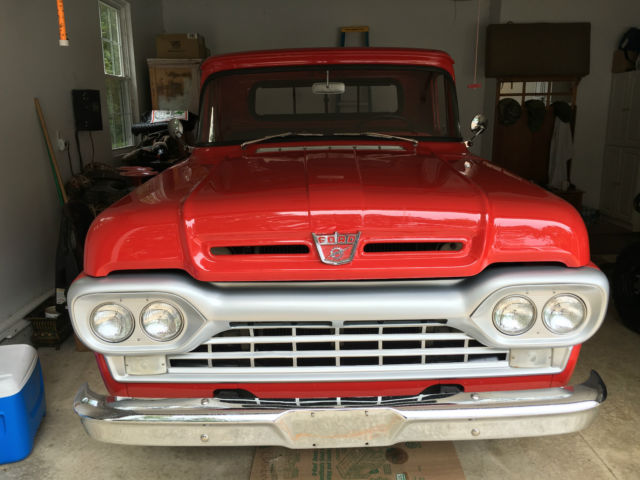 red 1960 ford f250 stake bed truck for sale ford f 250 1960 for sale in troy missouri. Black Bedroom Furniture Sets. Home Design Ideas