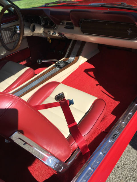 red 1966 mustang gt coupe signal red white vinyl top pony interior for sale ford mustang gt. Black Bedroom Furniture Sets. Home Design Ideas
