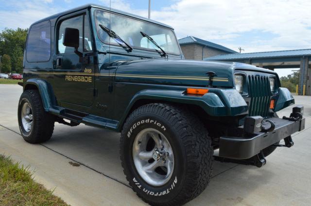 restored jeep wrangler yj with renegade decals hard top hard doors 4 0 l nice for sale jeep. Black Bedroom Furniture Sets. Home Design Ideas