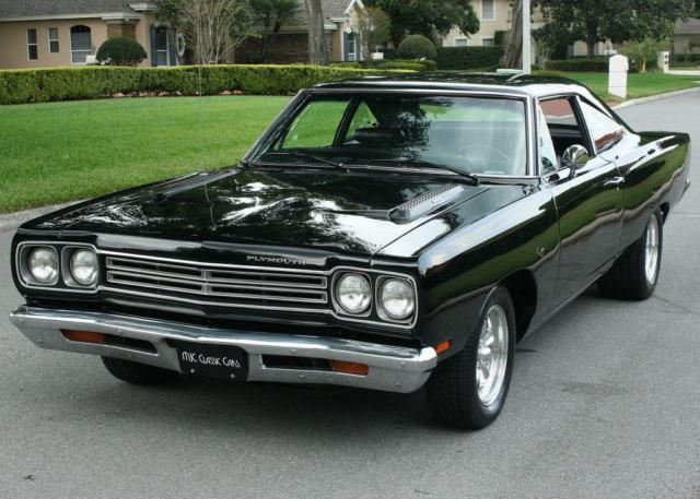 Restored Real Black Black 383 V 8 1969 Plymouth Road