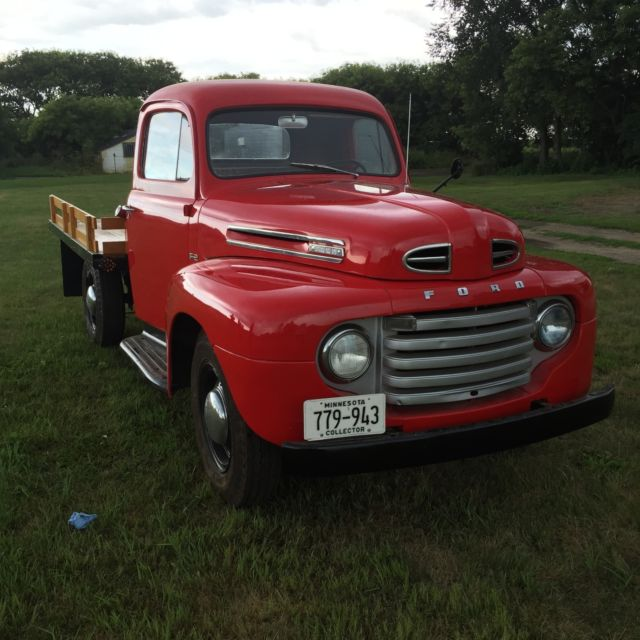restored1950 ford f2 stake bed pickup truck for sale ford other pickups 1950 for sale in. Black Bedroom Furniture Sets. Home Design Ideas