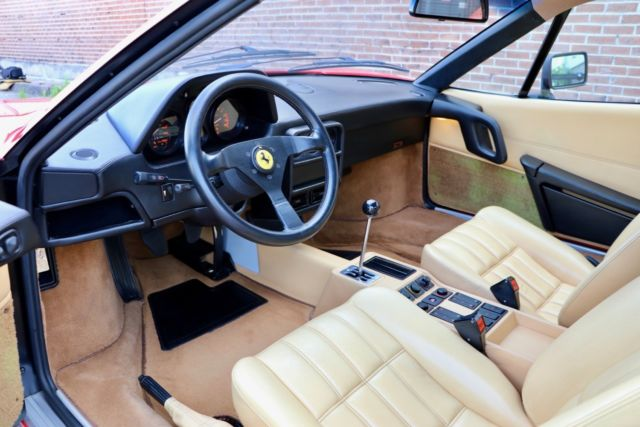 Rosso Corsa Beige 27k Miles 1 Of 19 1988 5 Us 328 Gtbs