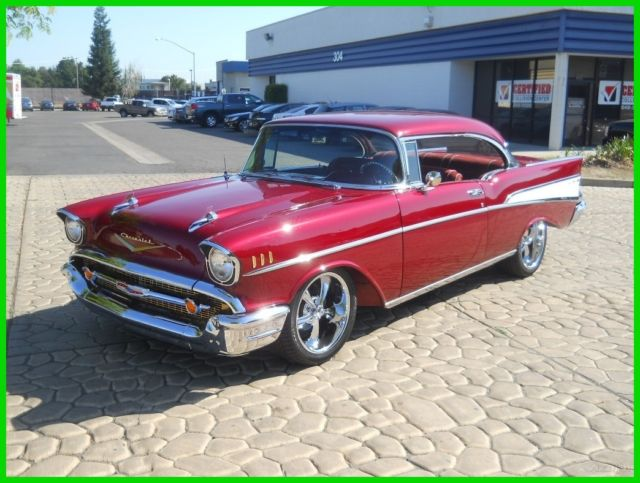 rotisserie restored 1957 chevy belair 327 700r4 tri five 4wpdb ps ac pw 55 56 for sale. Black Bedroom Furniture Sets. Home Design Ideas