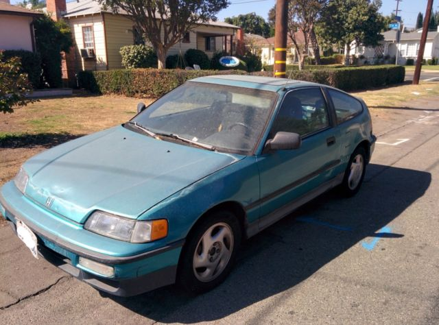 stock 1991 Honda CR-X SI & rebuilt B20 engine w/ LS transmission ready for swap! for sale ...
