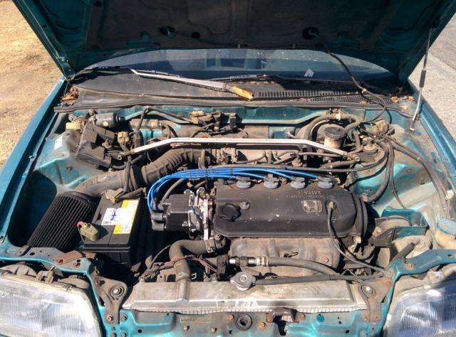 stock 1991 Honda CR-X SI & rebuilt B20 engine w/ LS ...