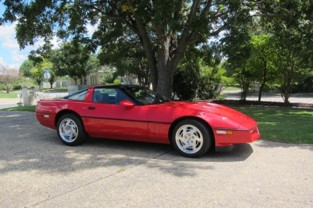 torch red classic 1990 corvette zr1 only 14 950 miles for. Black Bedroom Furniture Sets. Home Design Ideas