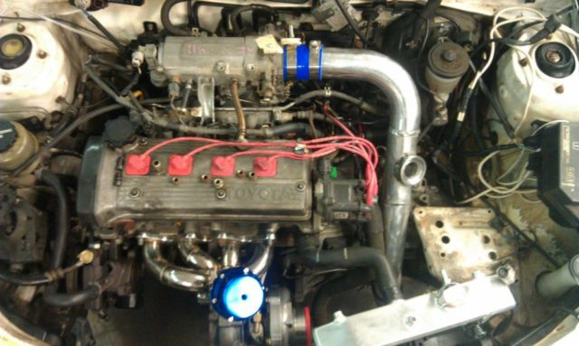 Toyota Paseo 4efte, T3, 6 speed C60, Greddy Emanage Blue, 450cc for