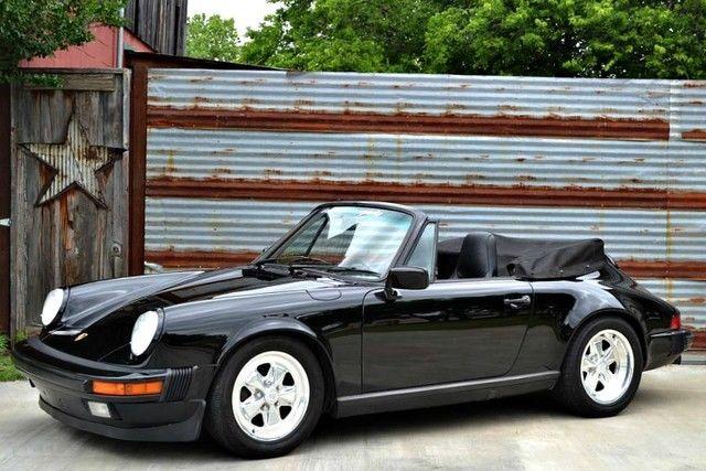 triple black for sale porsche 911 cabriolet g50 1988. Black Bedroom Furniture Sets. Home Design Ideas