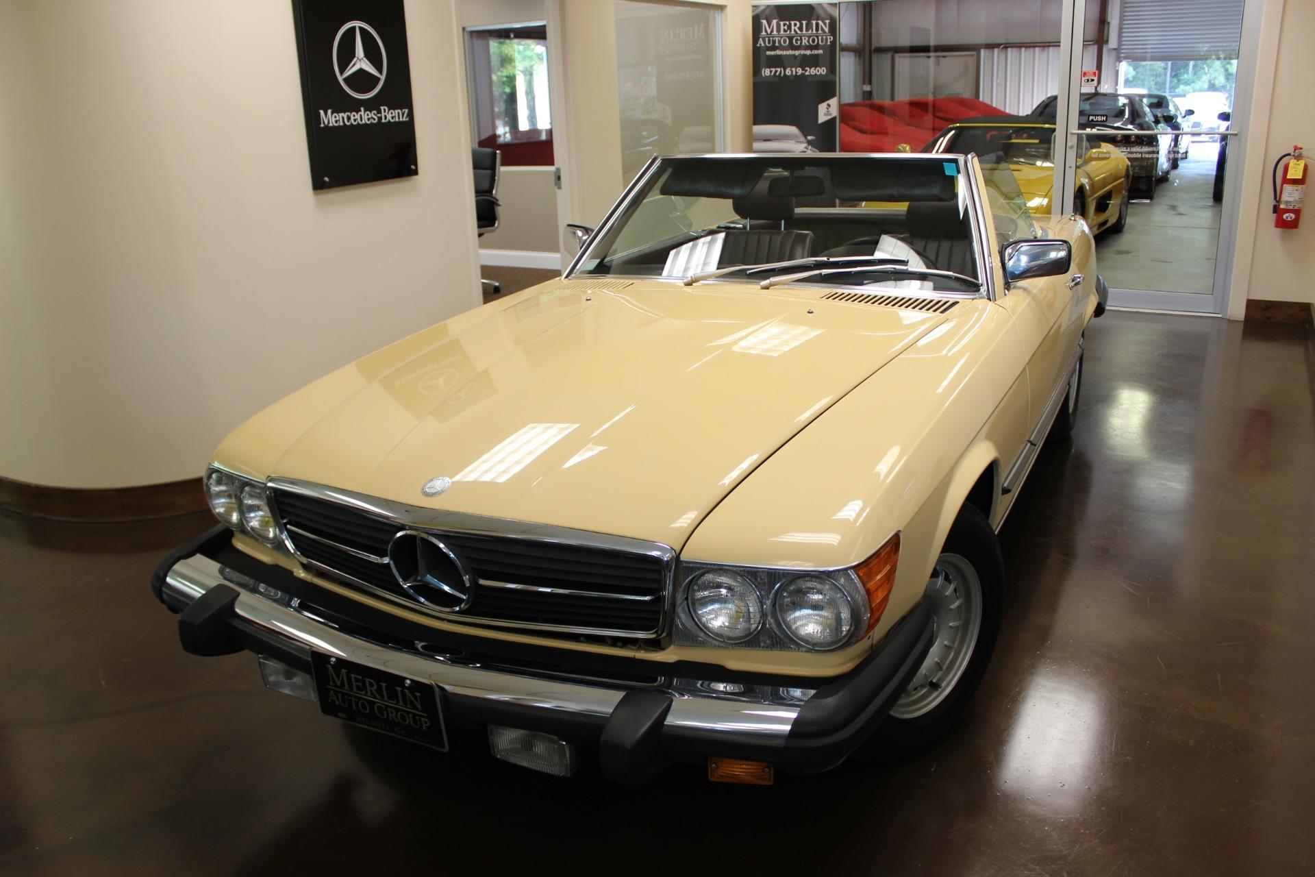 Used 1983 mercedes benz 380 manila beige convertible v8 3 for Used mercedes benz convertible cars for sale