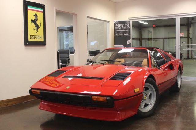 Used 1984 Ferrari 308 Gts Quattrovavole Rosso Corsa 2 Door