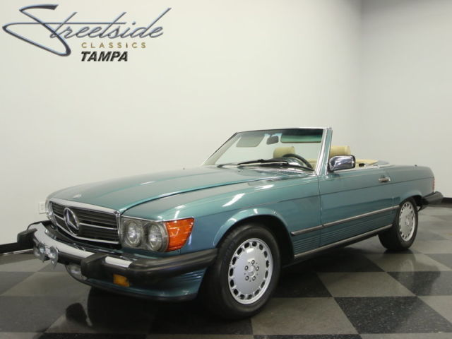 Very clean 560sl rare back seat clean history for Mercedes benz history name