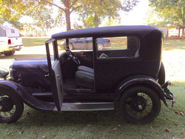 Vintage 1929 ford model a two door sedan dark blue new for 1929 model a 2 door sedan